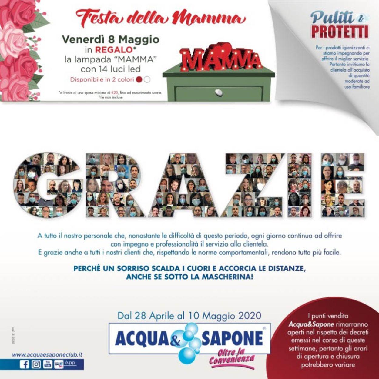 Volantino Acqua & Sapone - Offerte 28/04-10/05/2020