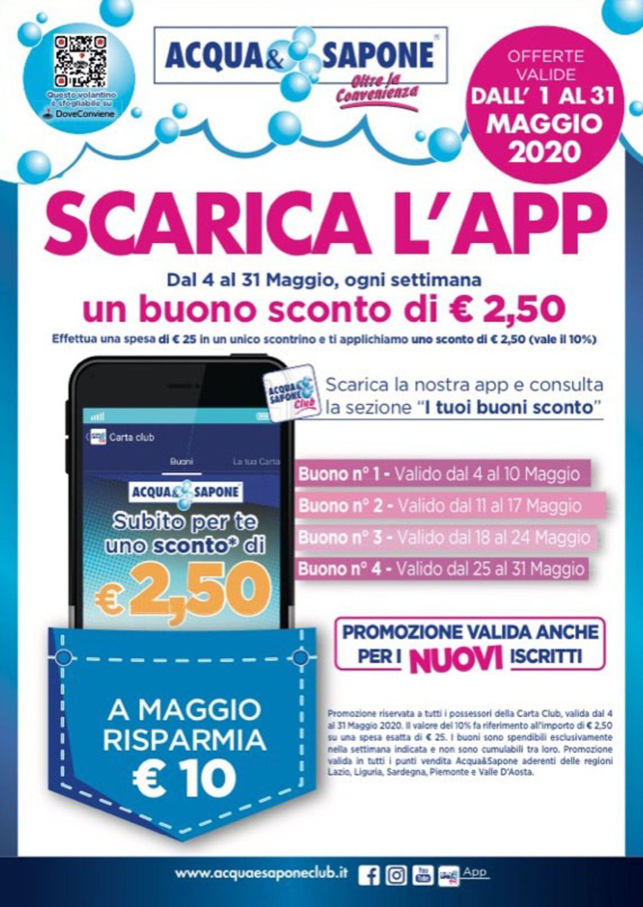 Volantino Acqua & Sapone - Offerte 04/05-31/05/2020