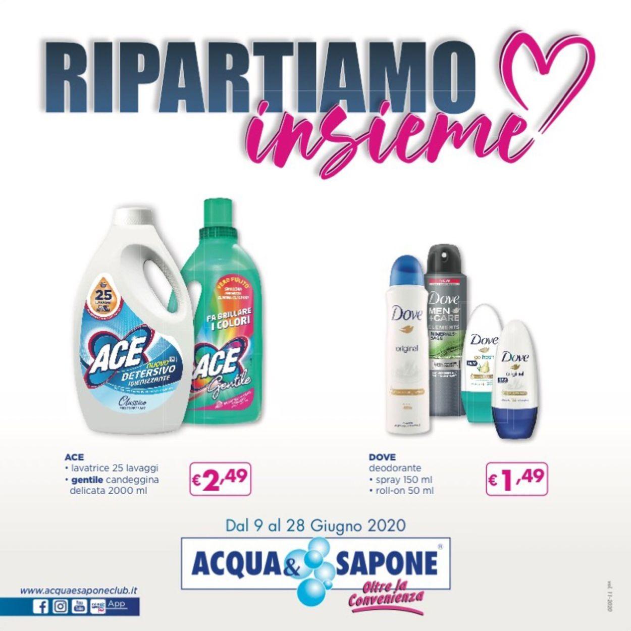 Volantino Acqua & Sapone - Offerte 09/06-28/06/2020