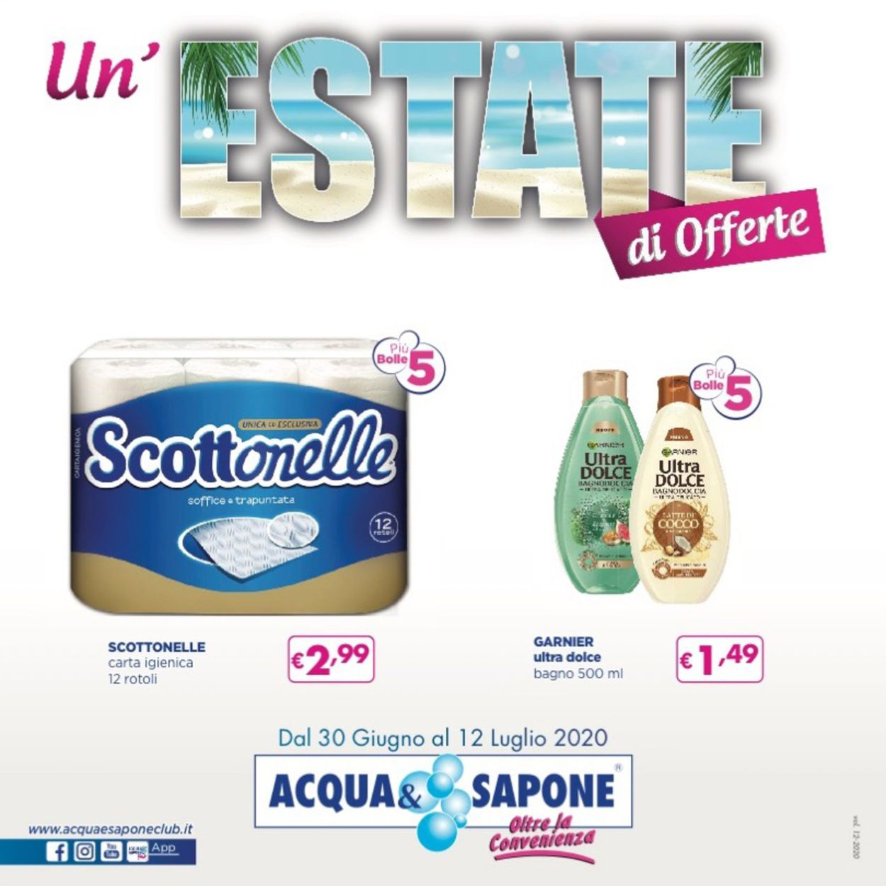 Volantino Acqua & Sapone - Offerte 30/06-12/07/2020