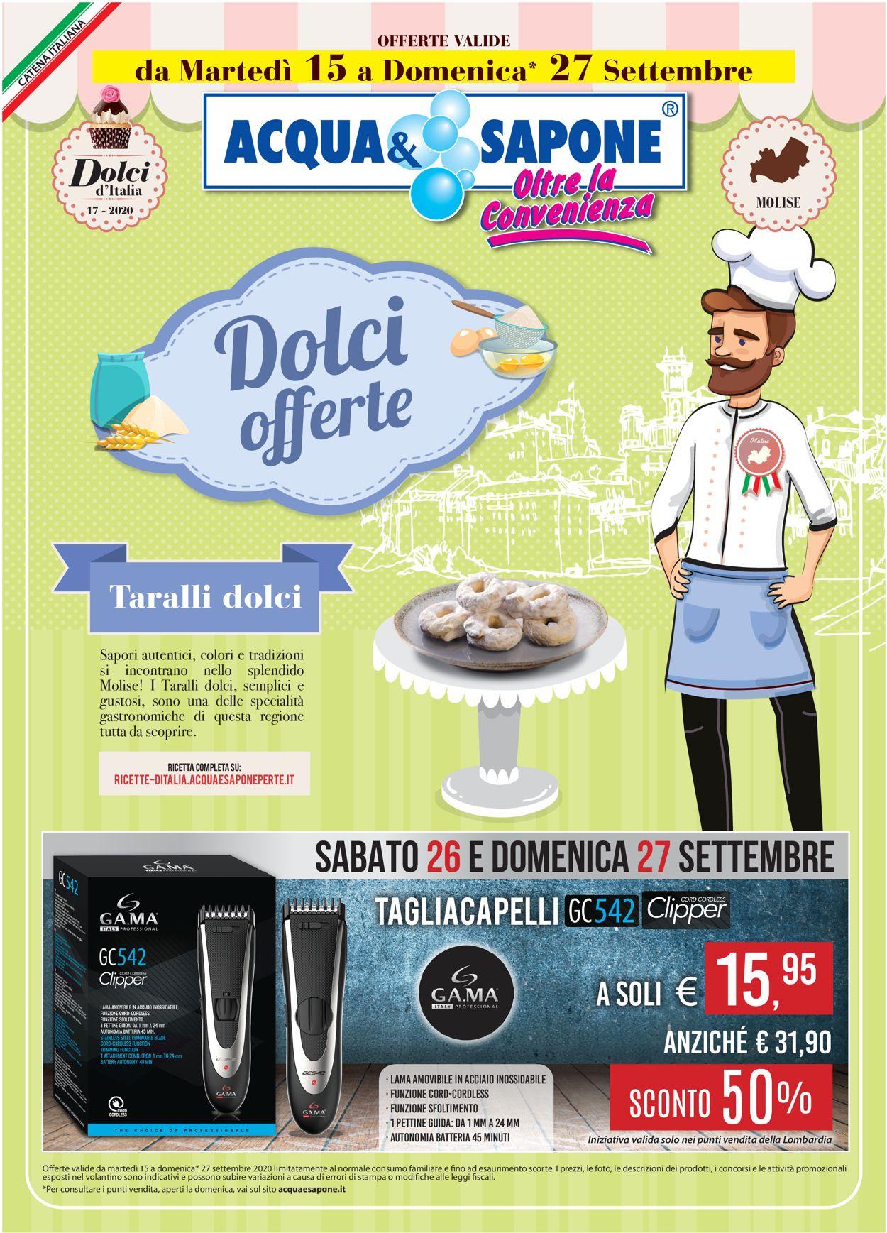 Volantino Acqua & Sapone - Offerte 15/09-27/09/2020