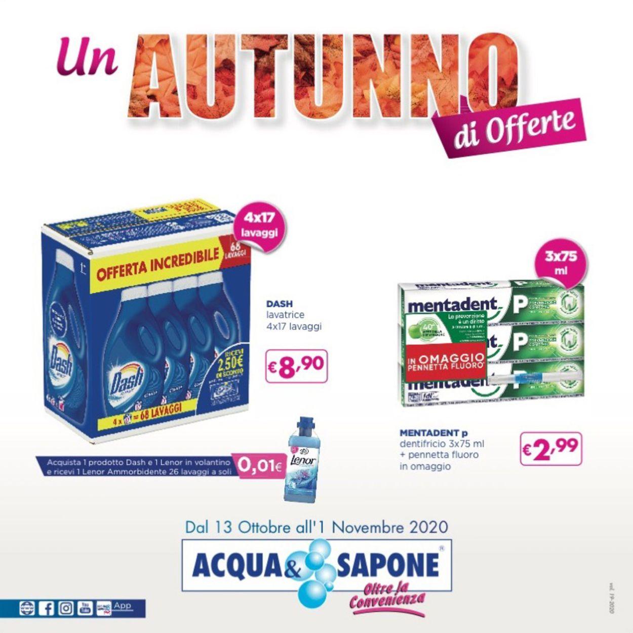 Volantino Acqua & Sapone - Offerte 13/10-01/11/2020