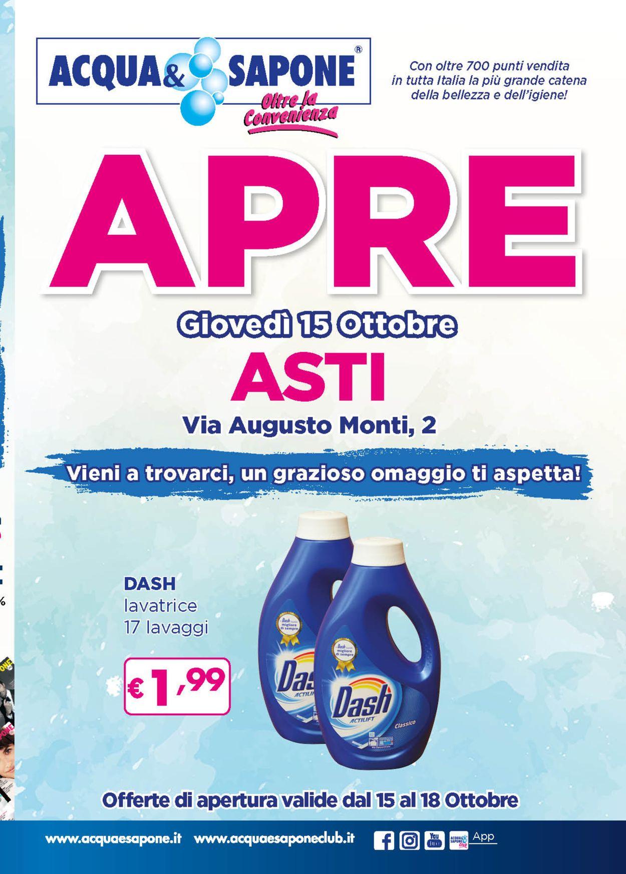 Volantino Acqua & Sapone - Offerte 15/10-18/10/2020