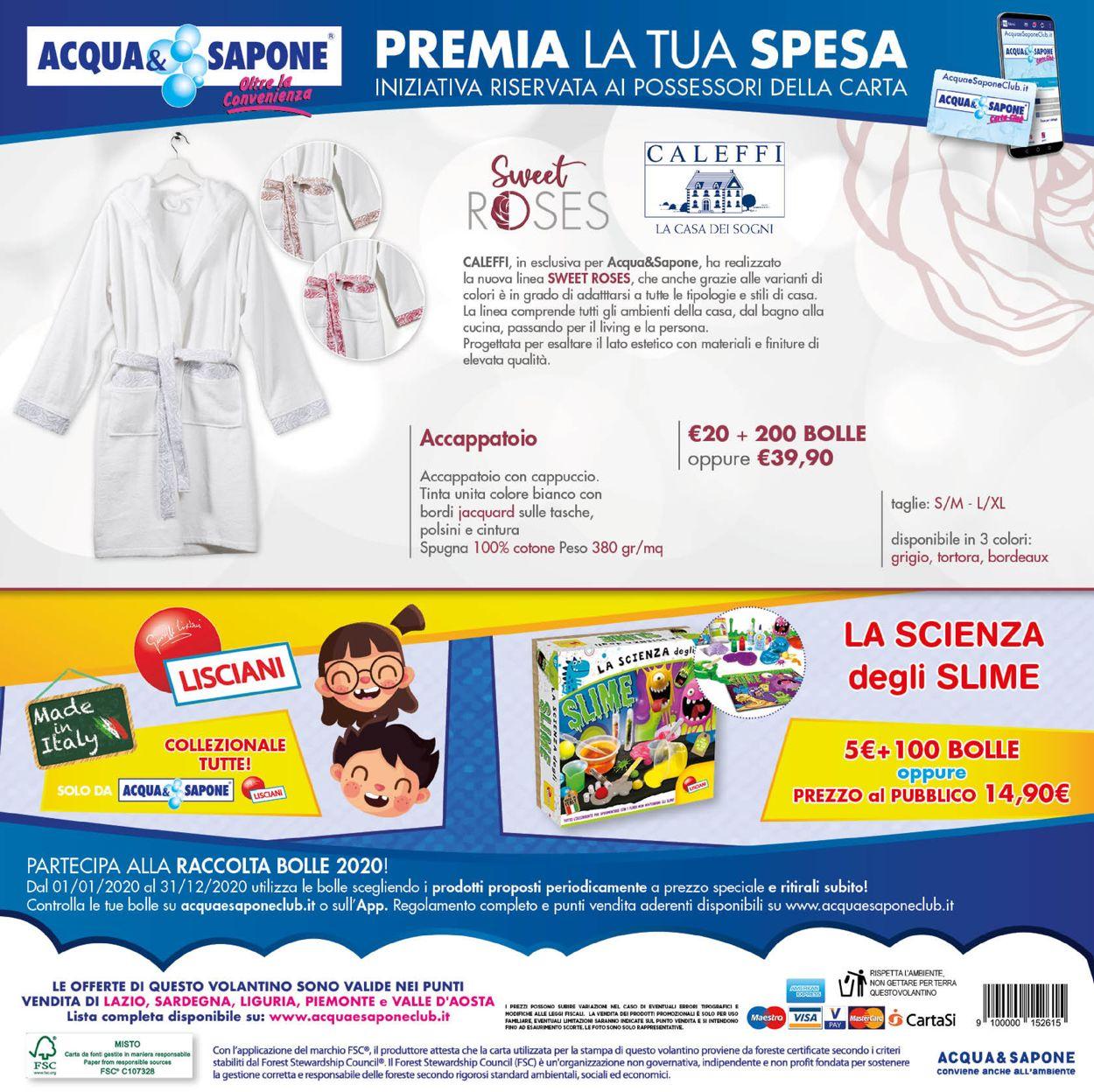 Volantino Acqua & Sapone - Offerte 01/12-31/12/2020