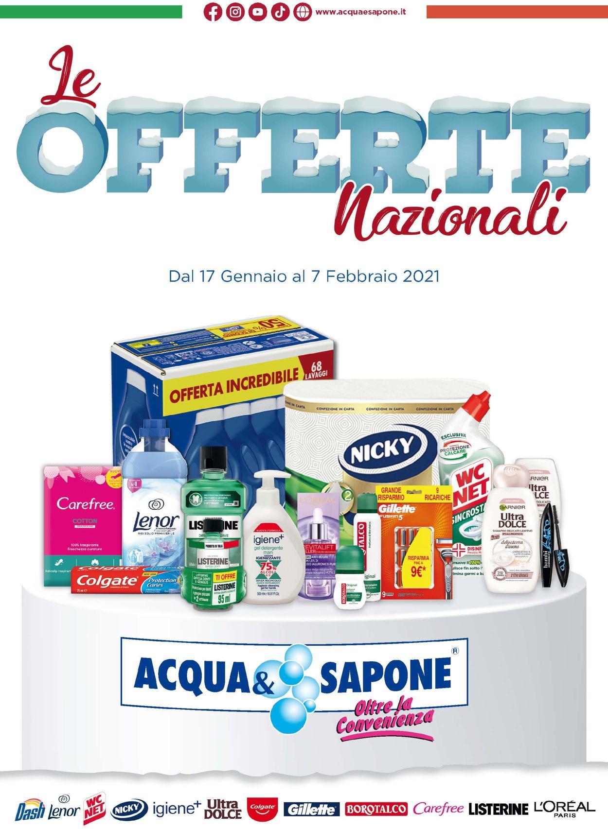 Volantino Acqua & Sapone - Offerte 17/01-07/02/2021