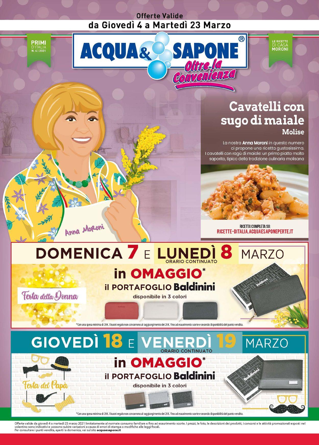 Volantino Acqua & Sapone - Offerte 04/03-23/03/2021