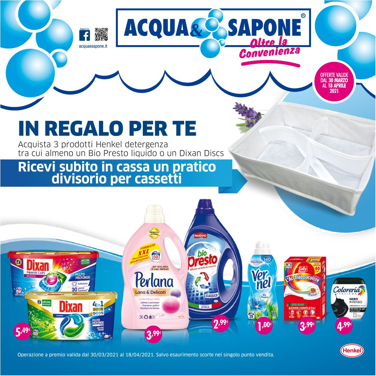 Volantino Acqua & Sapone - Offerte 30/03-18/04/2021