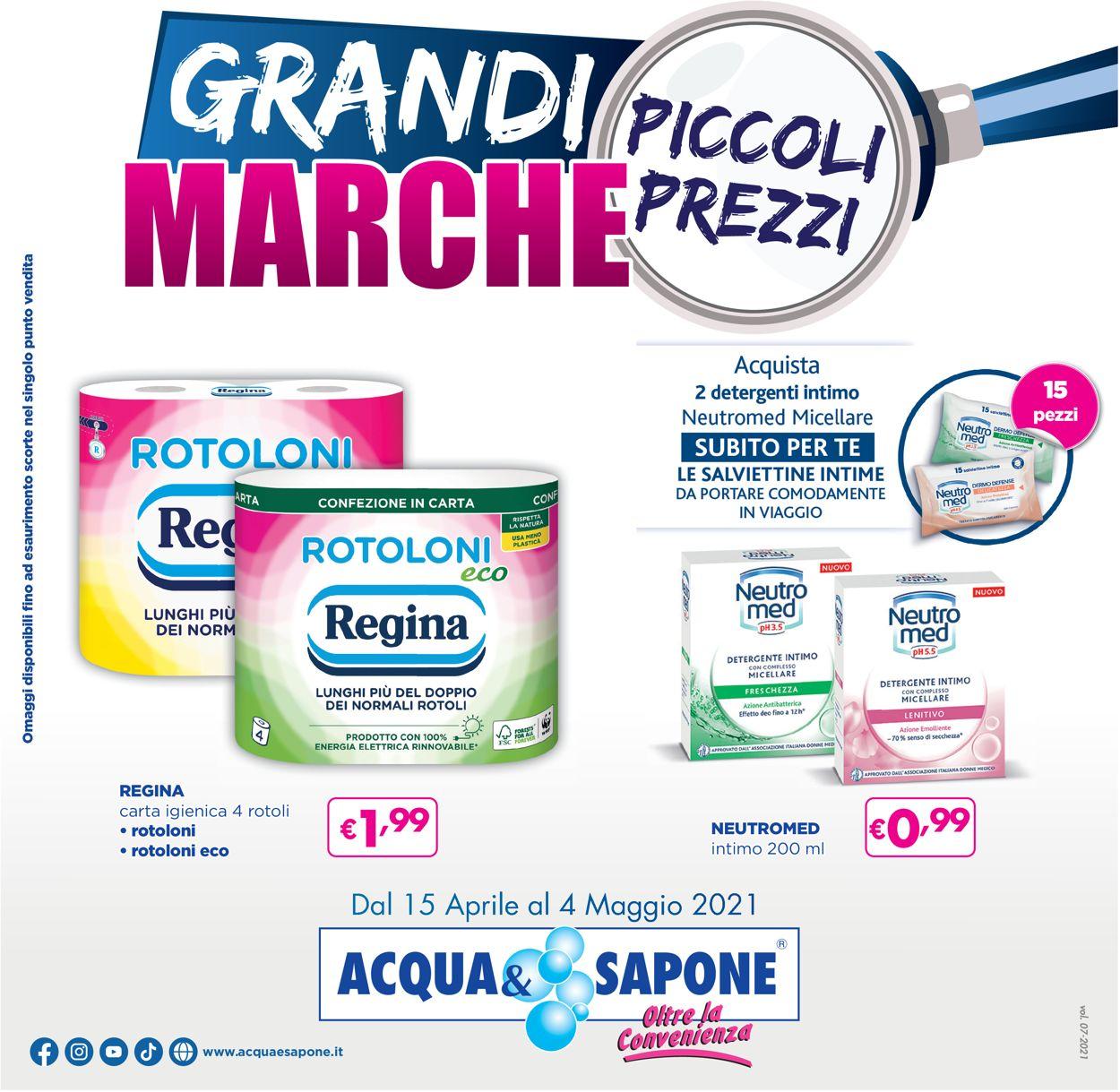 Volantino Acqua & Sapone - Offerte 15/04-04/05/2021