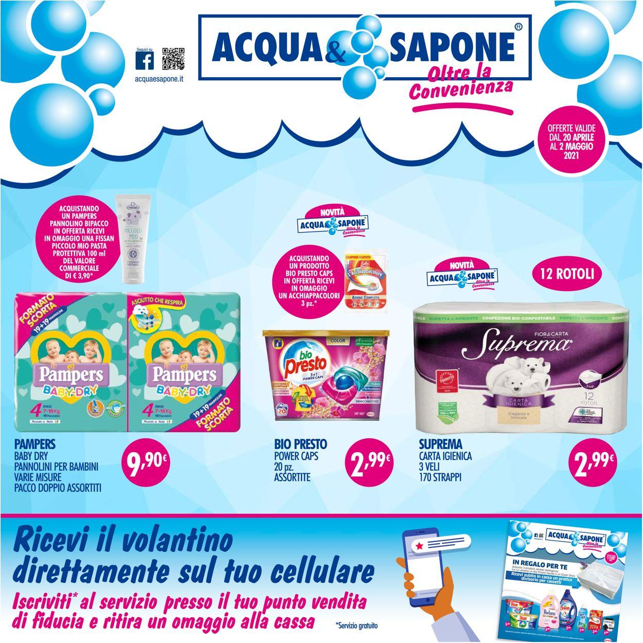 Volantino Acqua & Sapone - Offerte 20/04-02/05/2021