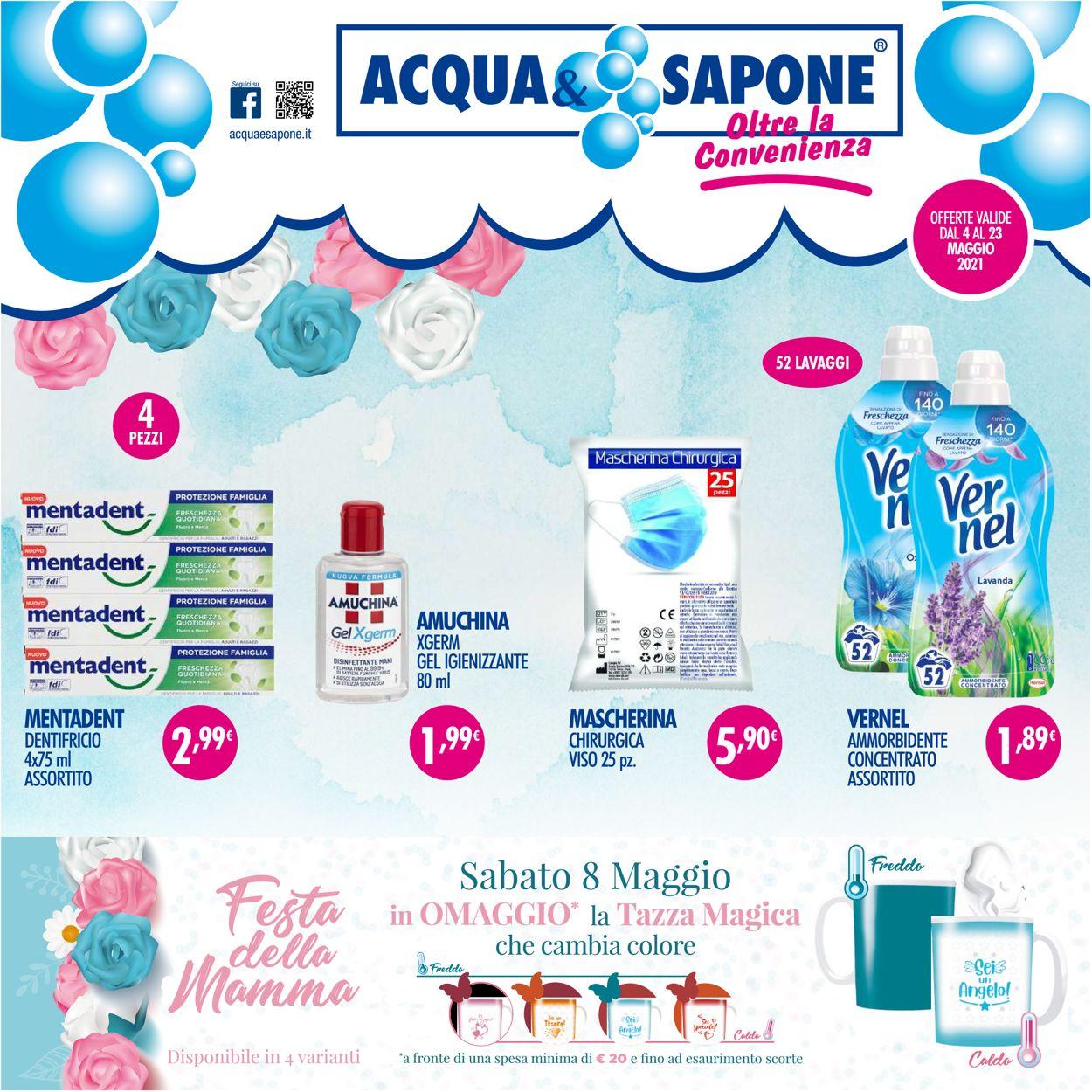 Volantino Acqua & Sapone - Offerte 04/05-23/05/2021