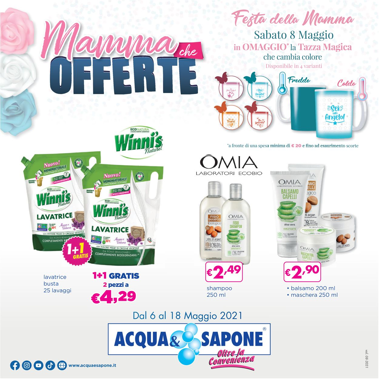 Volantino Acqua & Sapone - Offerte 06/05-18/05/2021