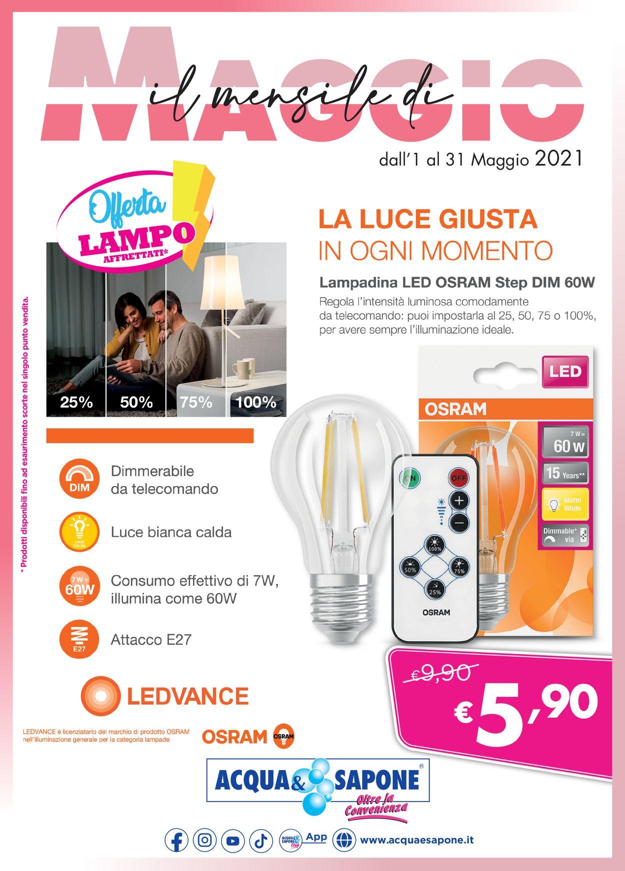 Volantino Acqua & Sapone - Offerte 01/05-31/05/2021