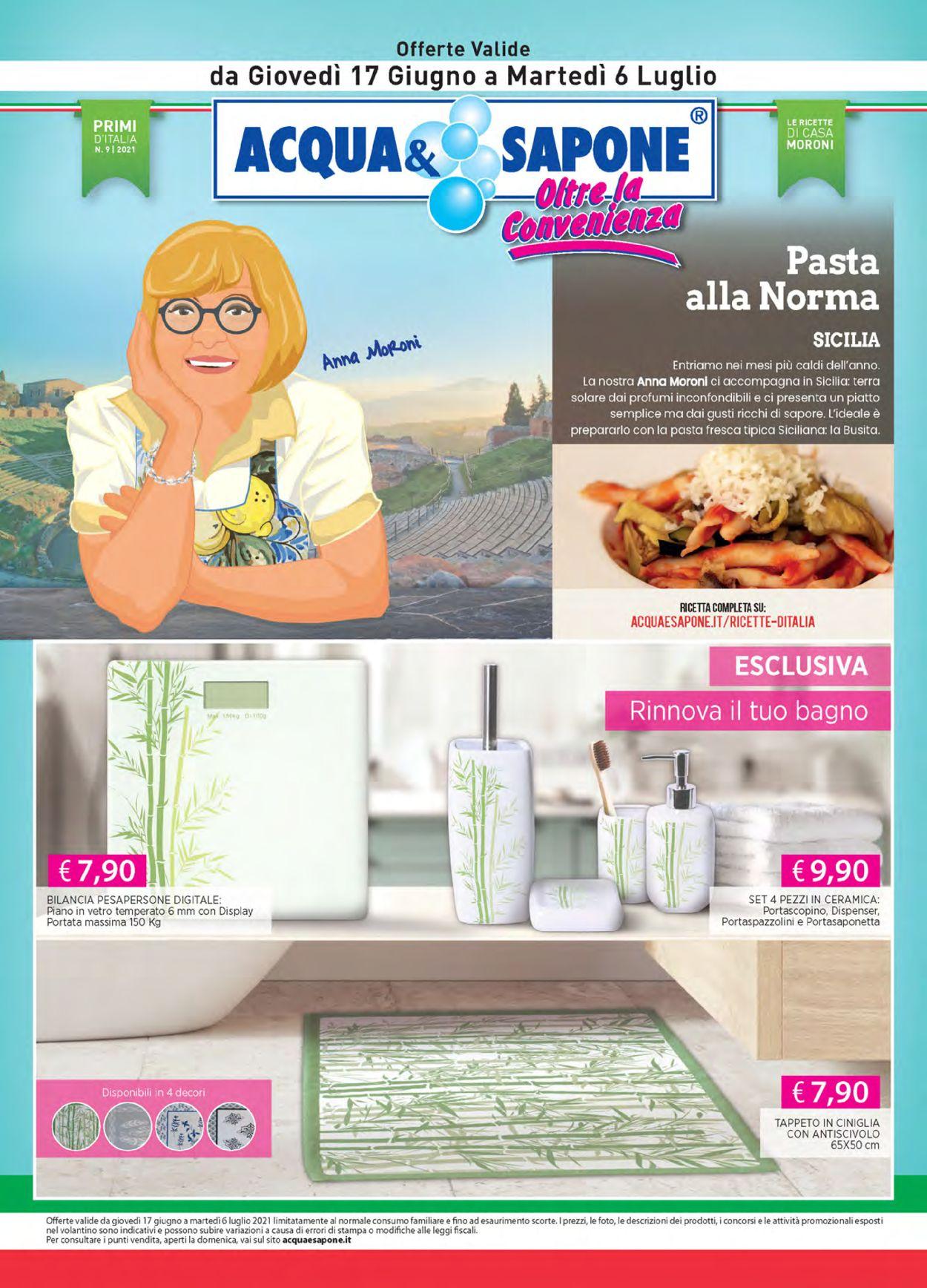 Volantino Acqua & Sapone - Offerte 17/06-06/07/2021