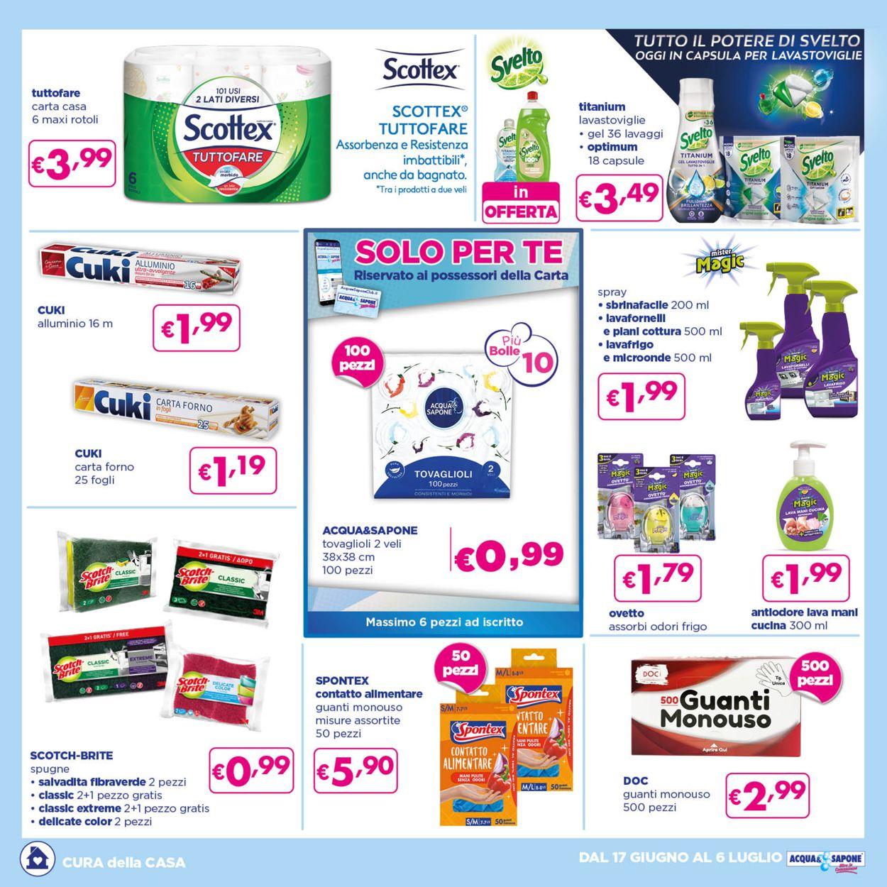 Volantino Acqua & Sapone - Offerte 17/06-06/07/2021 (Pagina 4)
