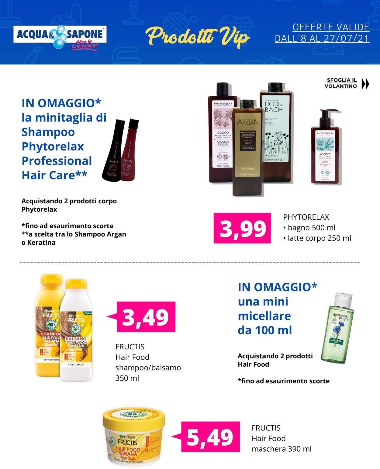 Volantino Acqua & Sapone - Offerte 08/07-27/07/2021 (Pagina 5)