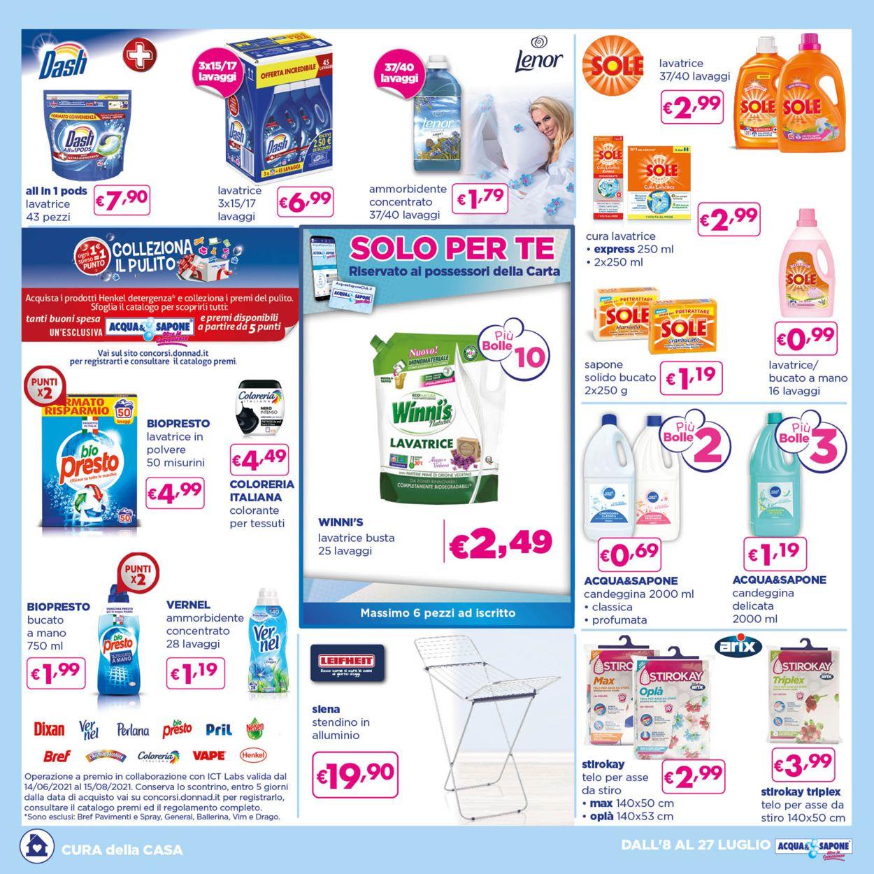 Volantino Acqua & Sapone - Offerte 08/07-27/07/2021 (Pagina 3)