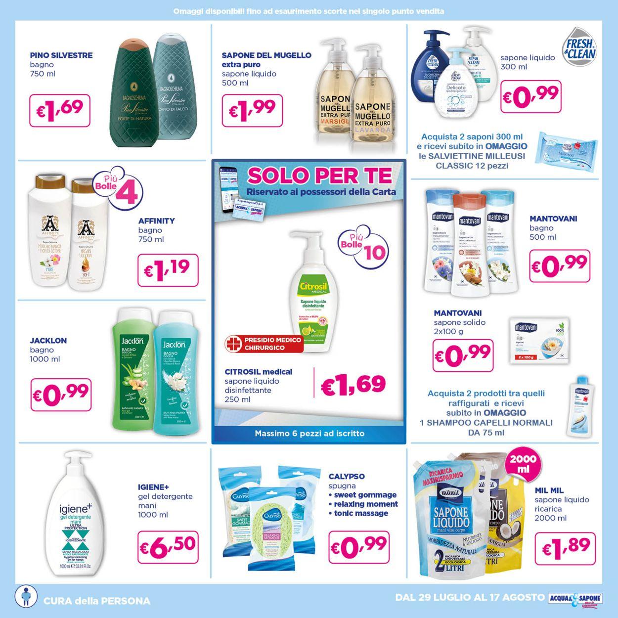 Volantino Acqua & Sapone - Offerte 29/07-17/08/2021 (Pagina 8)