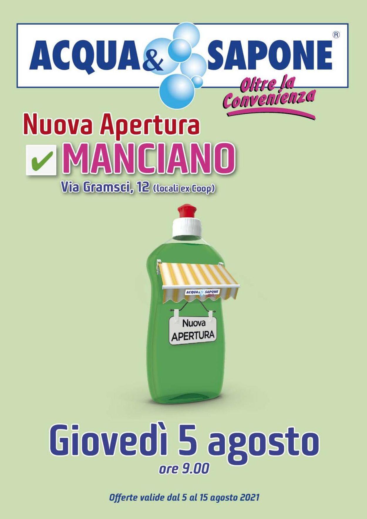 Volantino Acqua & Sapone - Offerte 05/08-15/08/2021