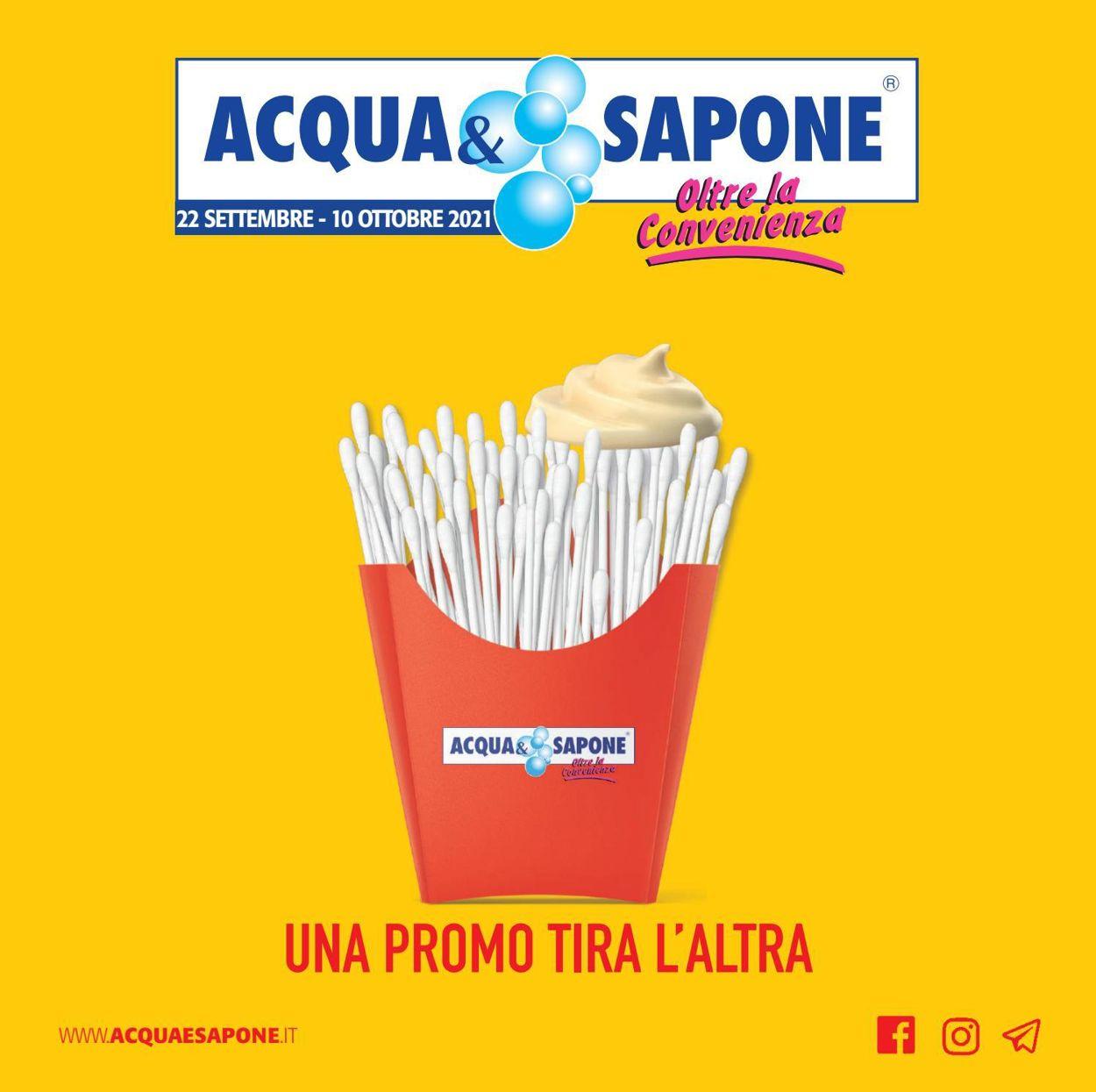 Volantino Acqua & Sapone - Offerte 22/09-10/10/2021