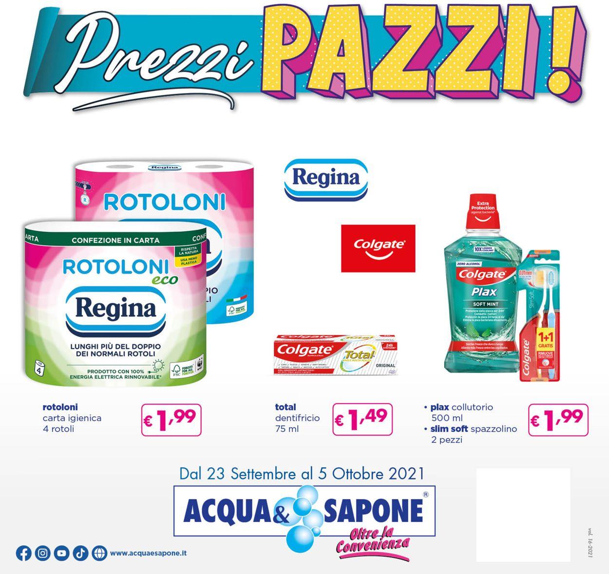 Volantino Acqua & Sapone - Offerte 23/09-05/10/2021