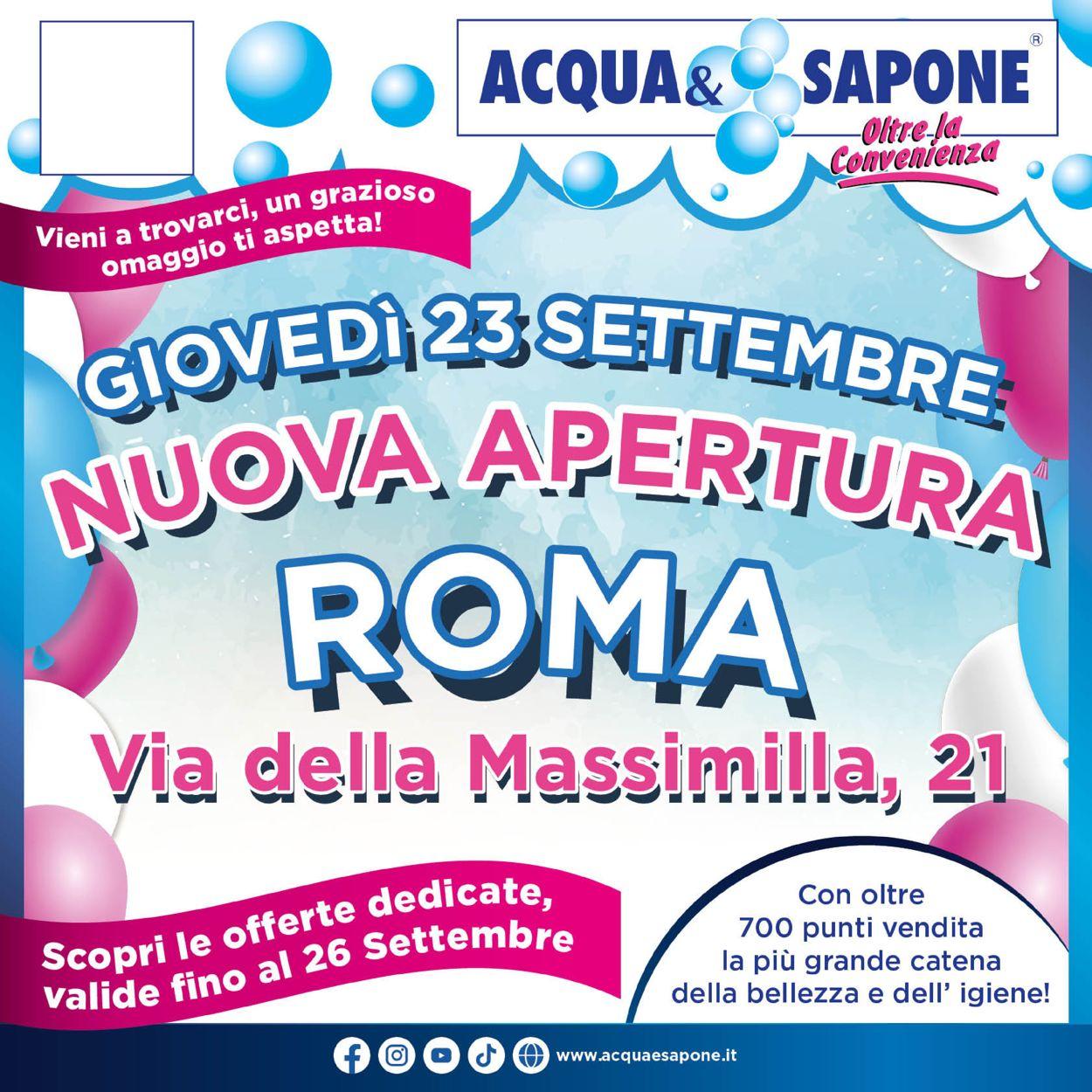 Volantino Acqua & Sapone - Offerte 23/09-26/09/2021