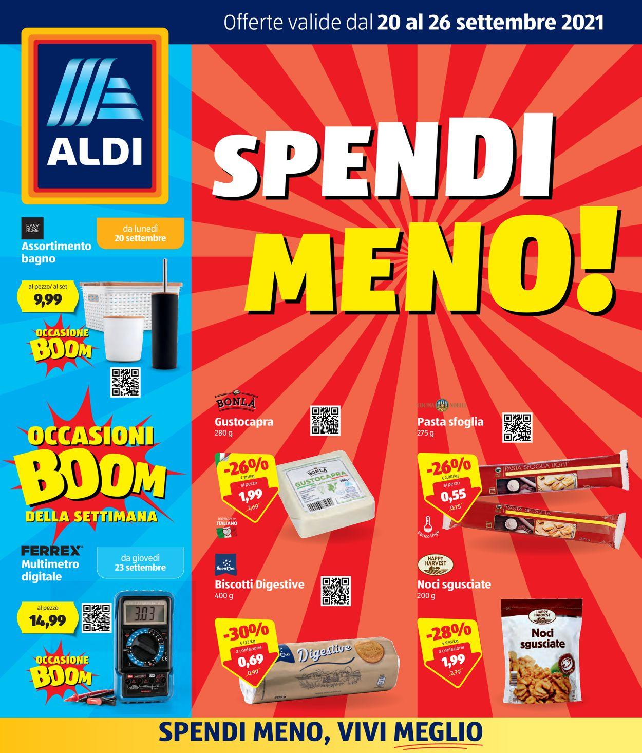 Volantino Aldi - Offerte 20/09-26/09/2021