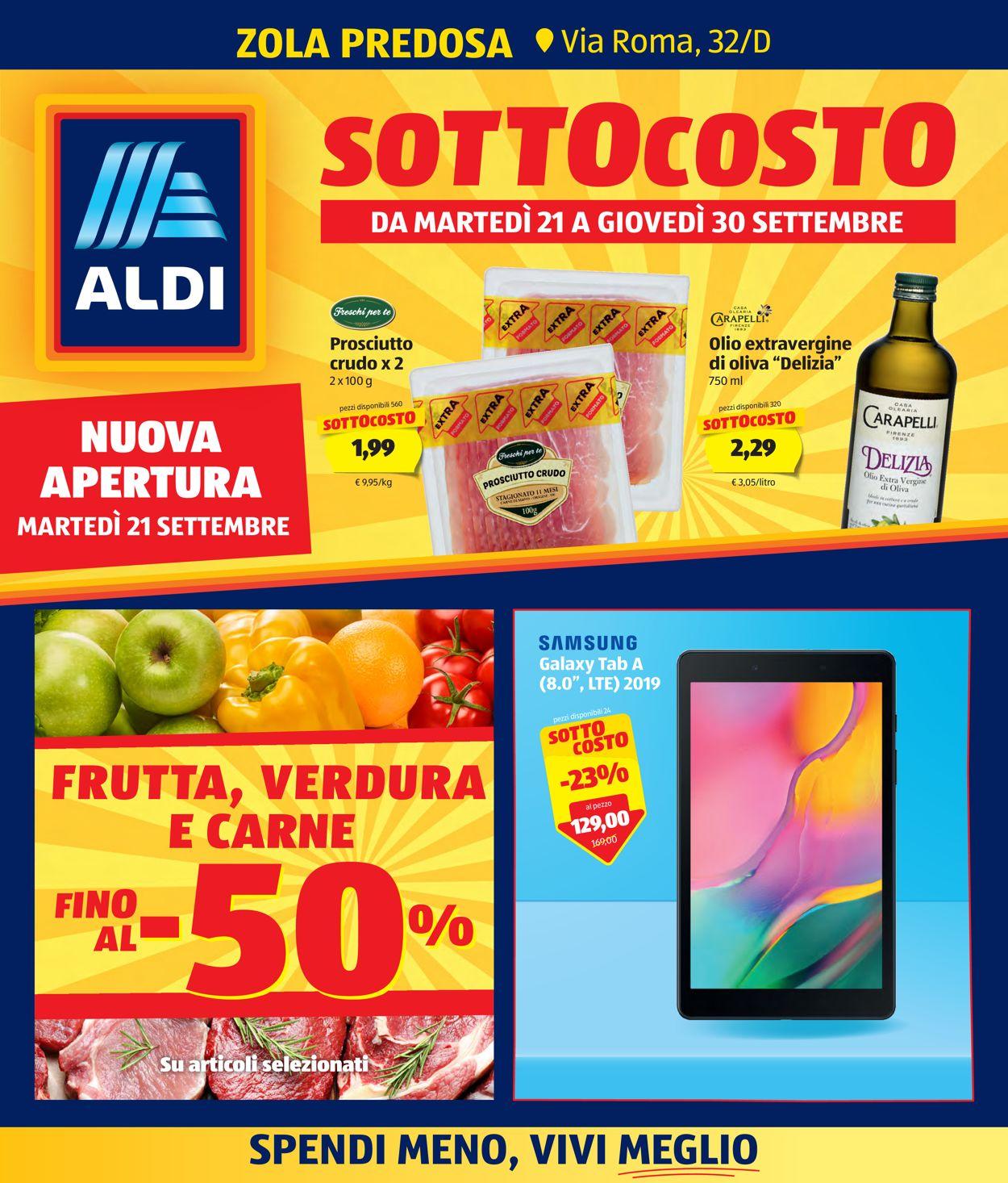 Volantino Aldi - Offerte 21/09-30/09/2021