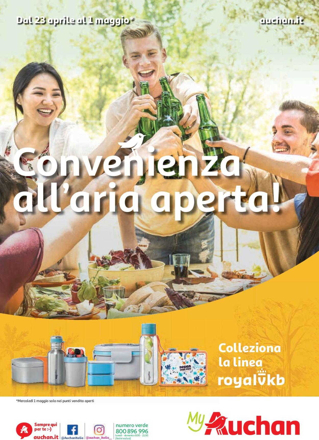 Volantino Auchan - Offerte 23/04-01/05/2019