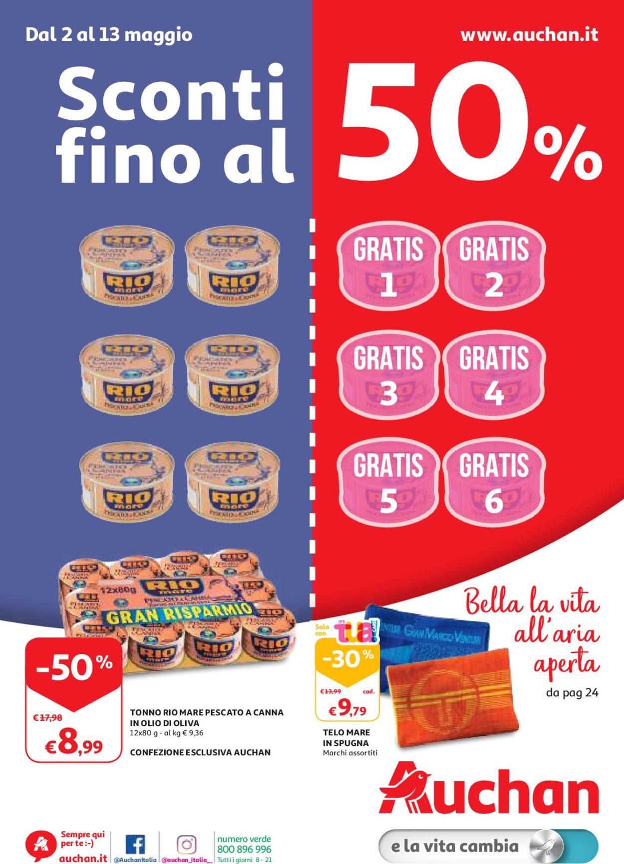 Volantino Auchan - Offerte 02/05-13/05/2019