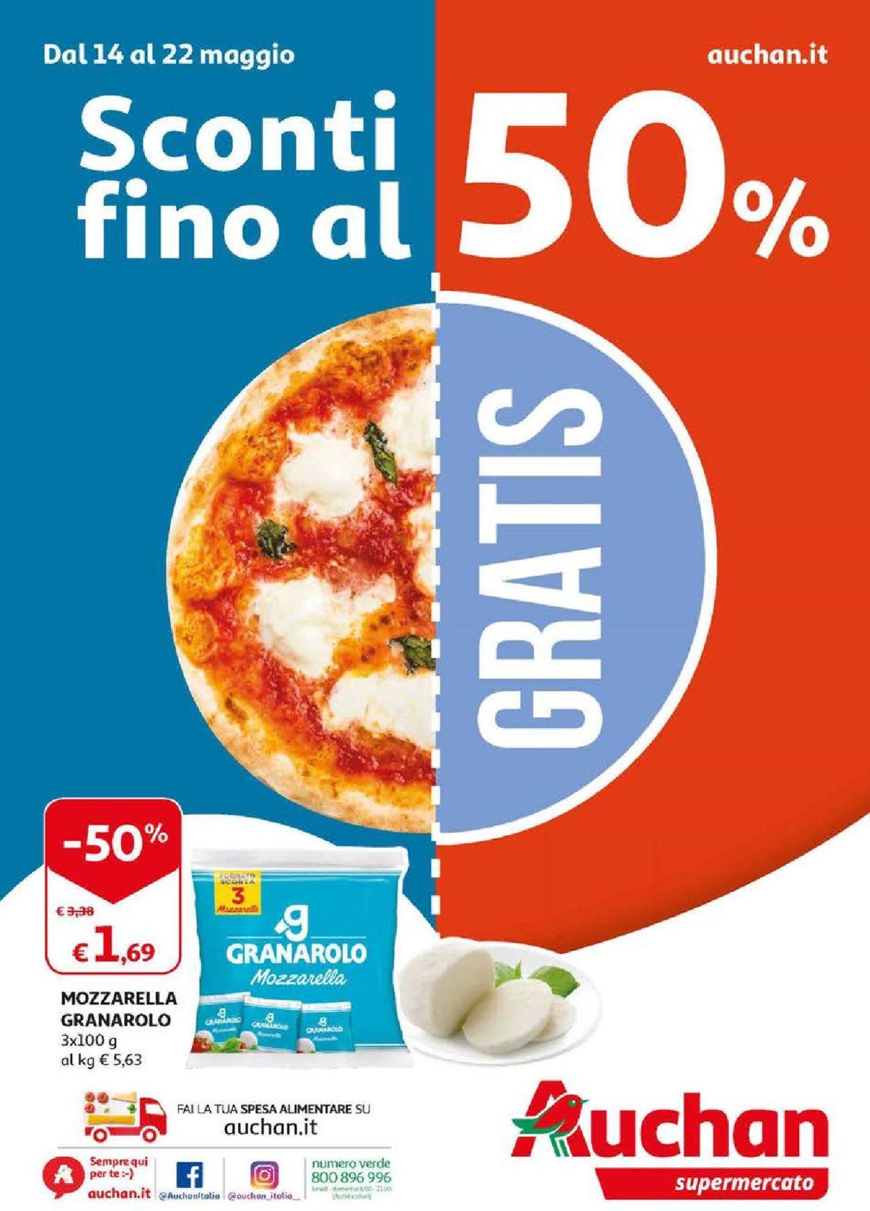 Volantino Auchan - Offerte 14/05-22/05/2019