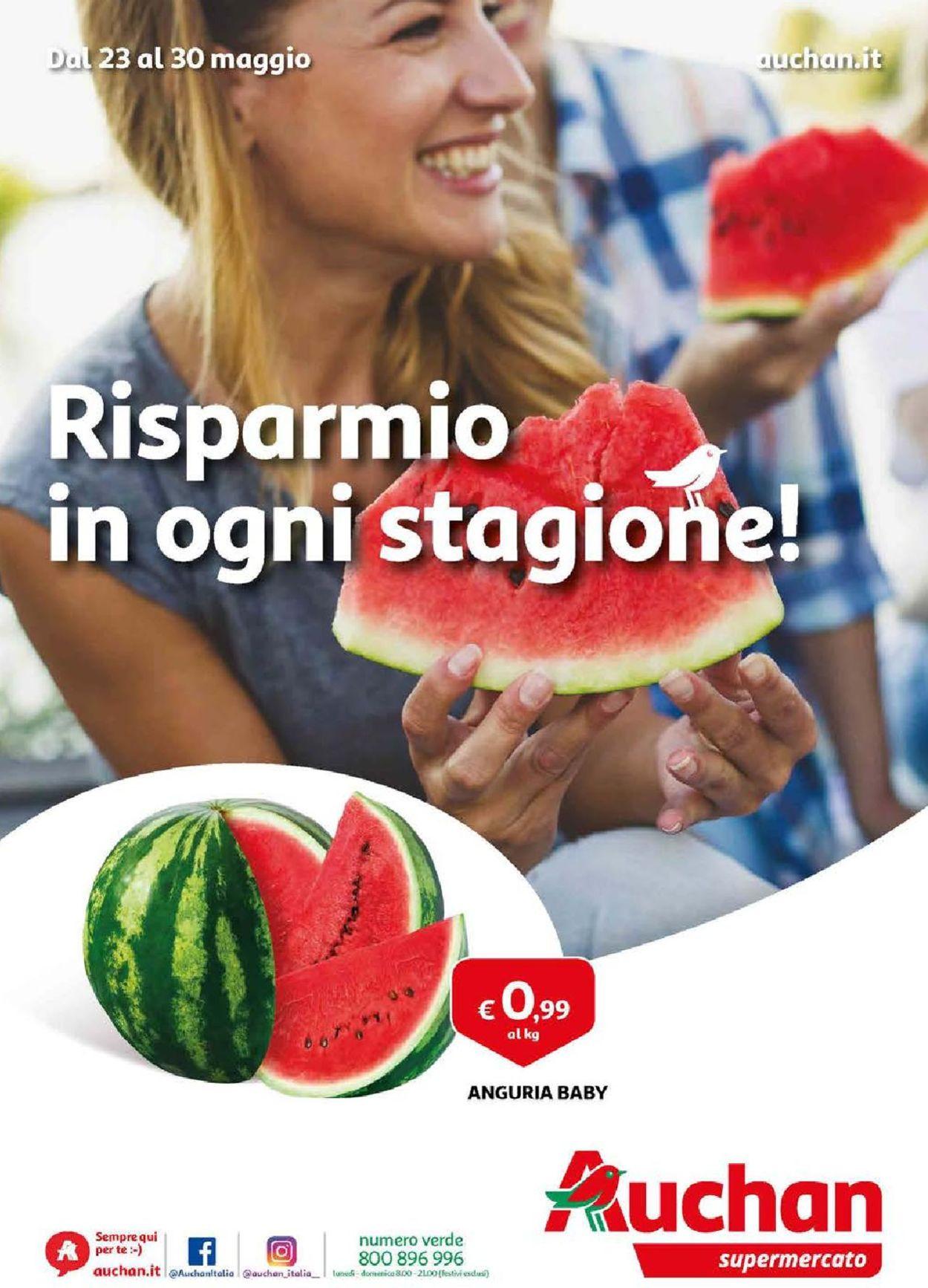 Volantino Auchan - Offerte 23/05-30/05/2019
