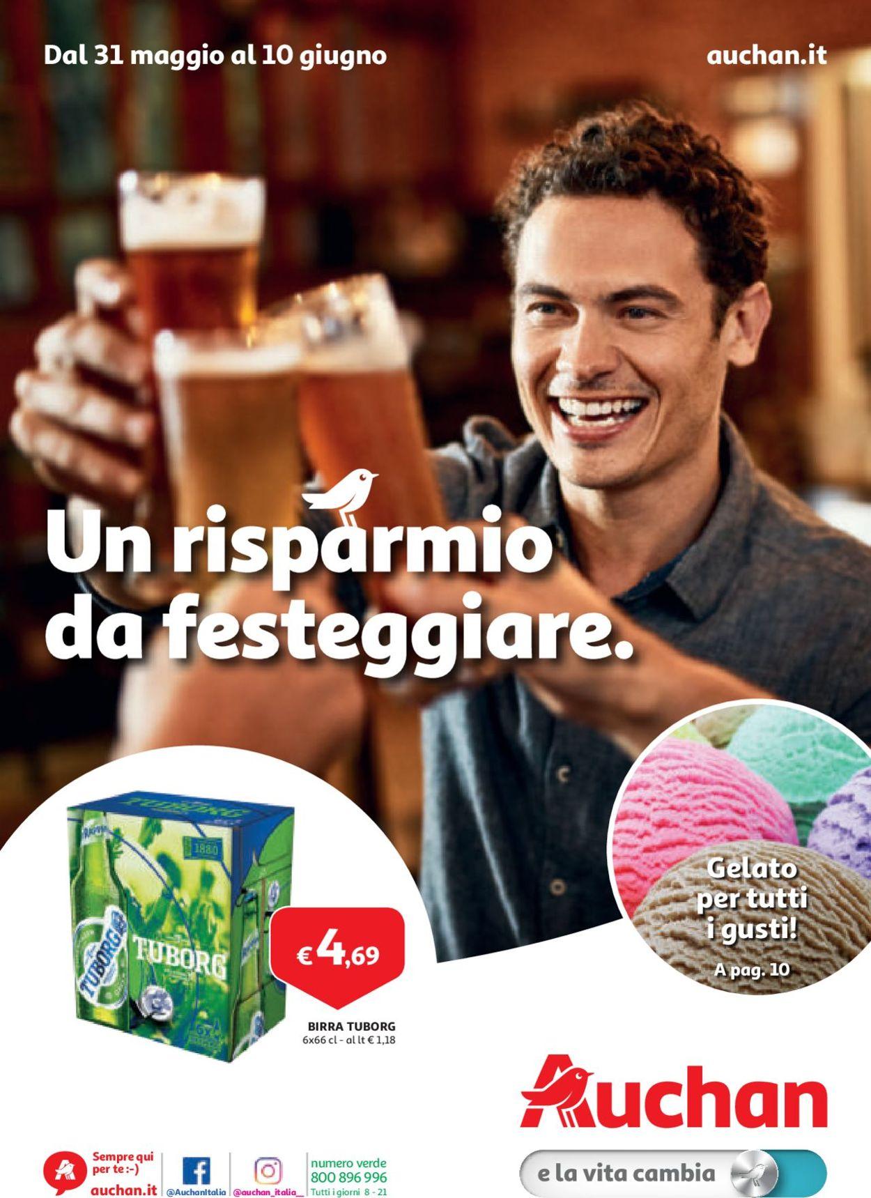 Volantino Auchan - Offerte 31/05-10/06/2019