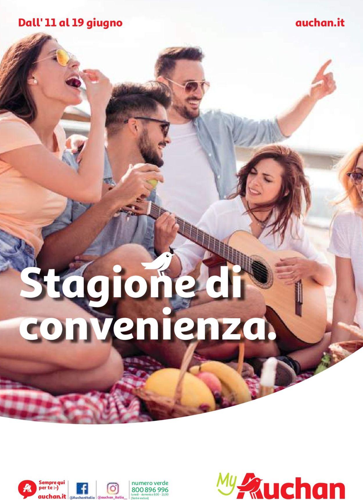 Volantino Auchan - Offerte 11/06-19/06/2019