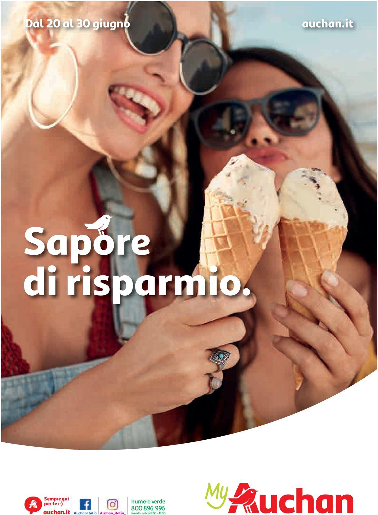 Volantino Auchan - Offerte 20/06-30/06/2019