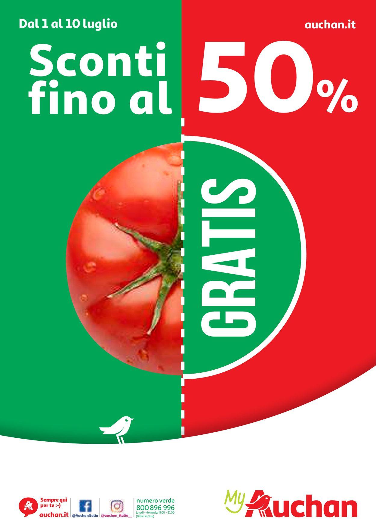 Volantino Auchan - Offerte 01/07-10/07/2019