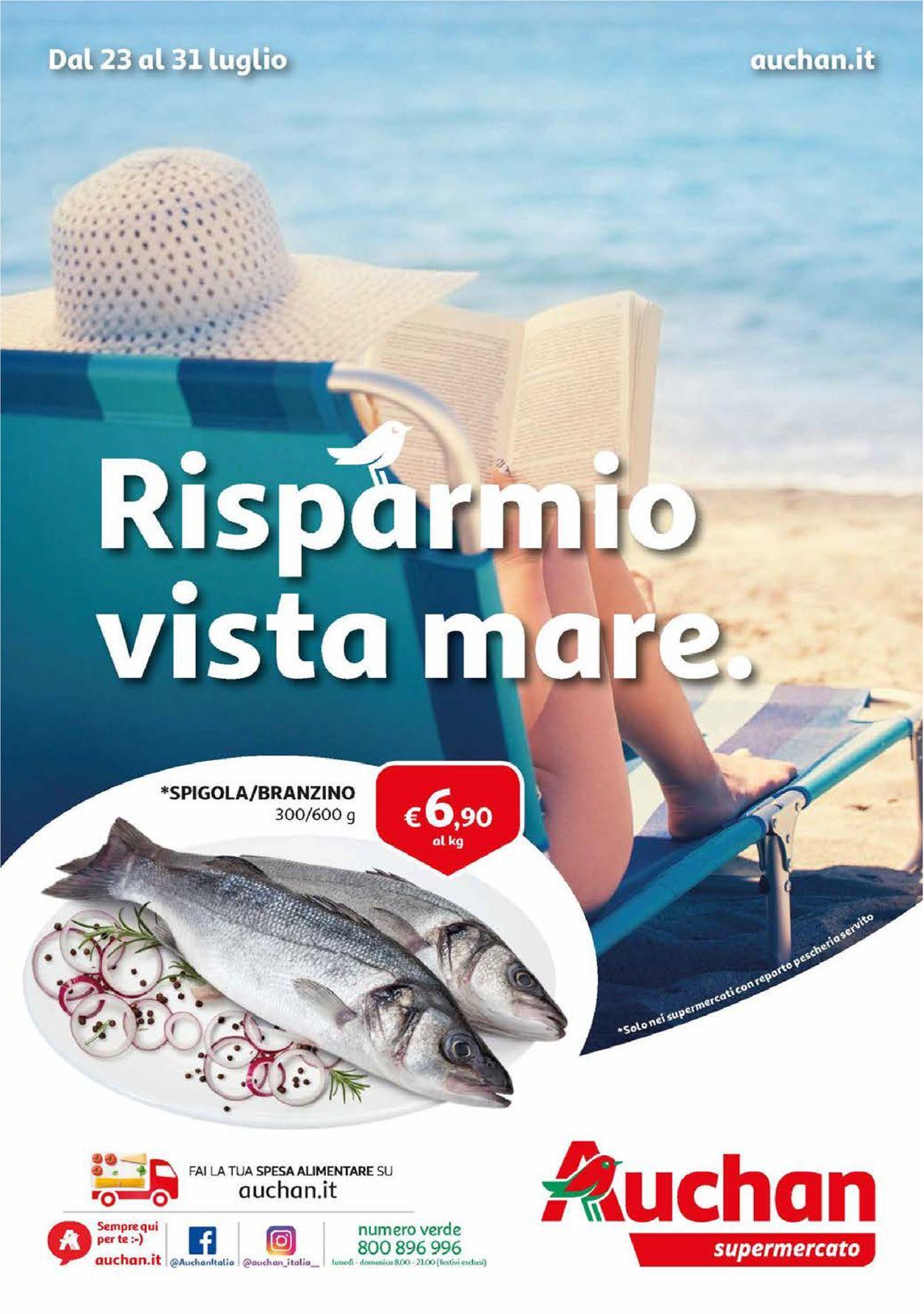 Volantino Auchan - Offerte 23/07-31/07/2019