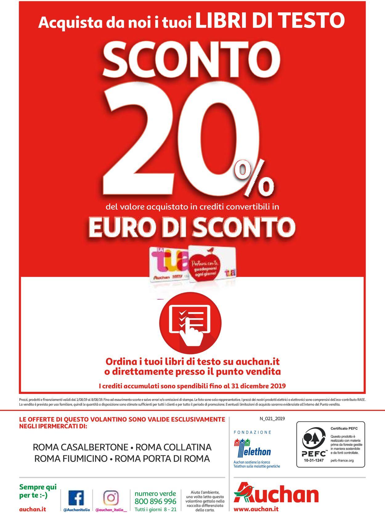 Volantino Auchan - Offerte 01/08-08/08/2019 (Pagina 32)