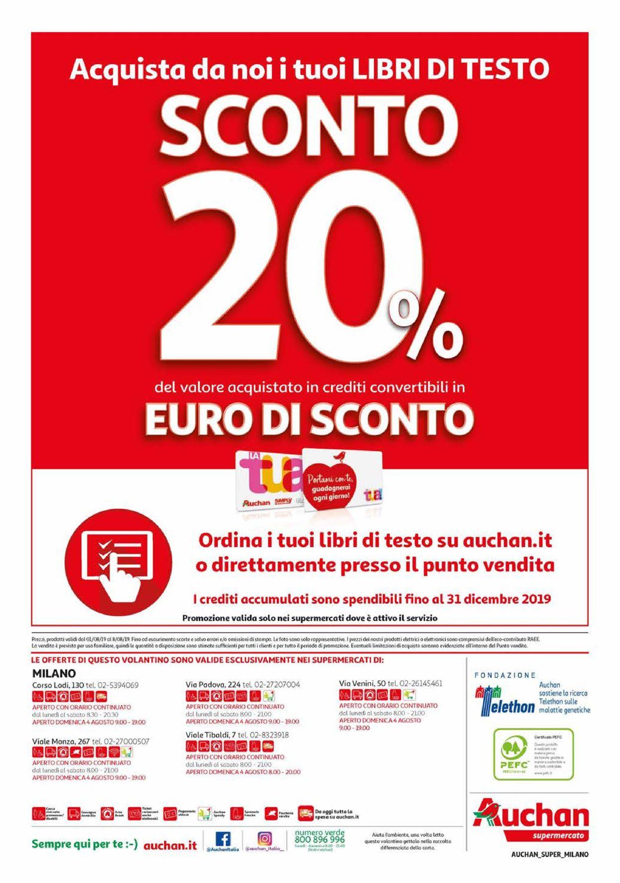 Volantino Auchan - Offerte 01/08-08/08/2019 (Pagina 16)