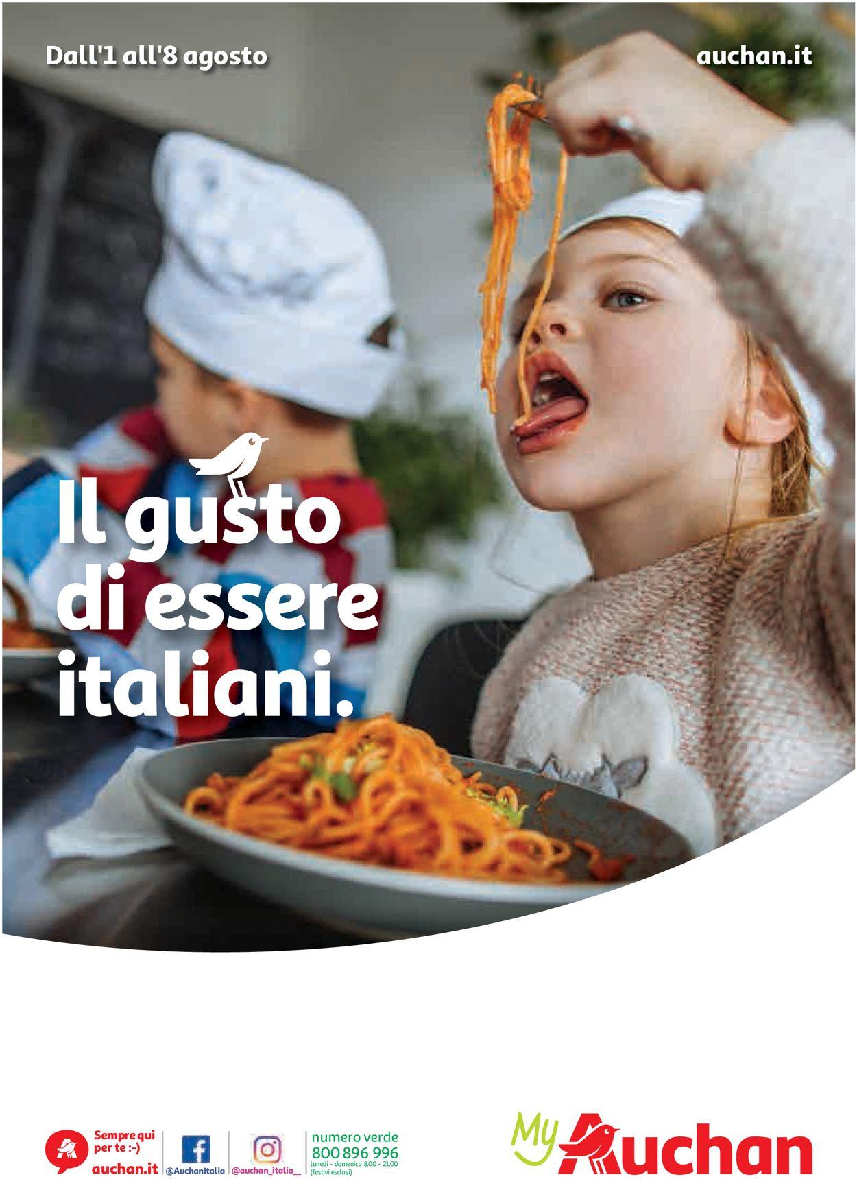 Volantino Auchan - Offerte 01/08-08/08/2019