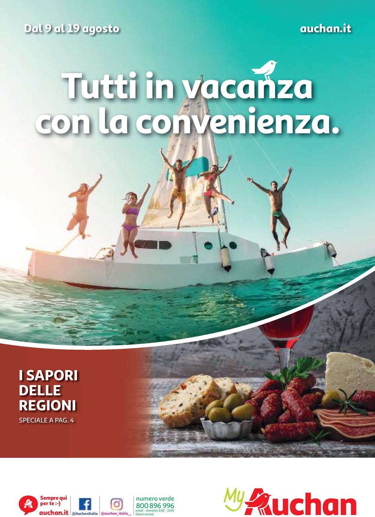 Volantino Auchan - Offerte 09/08-19/08/2019