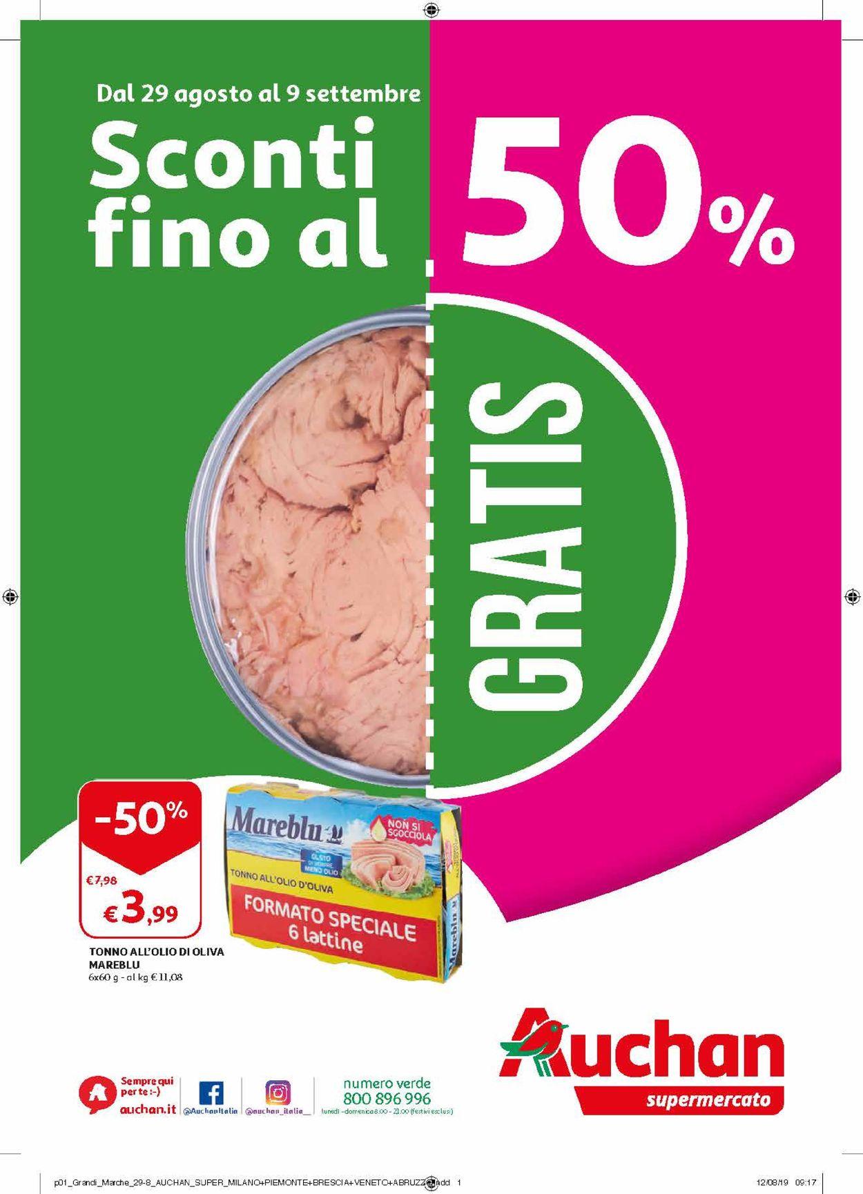 Volantino Auchan - Offerte 29/08-09/09/2019