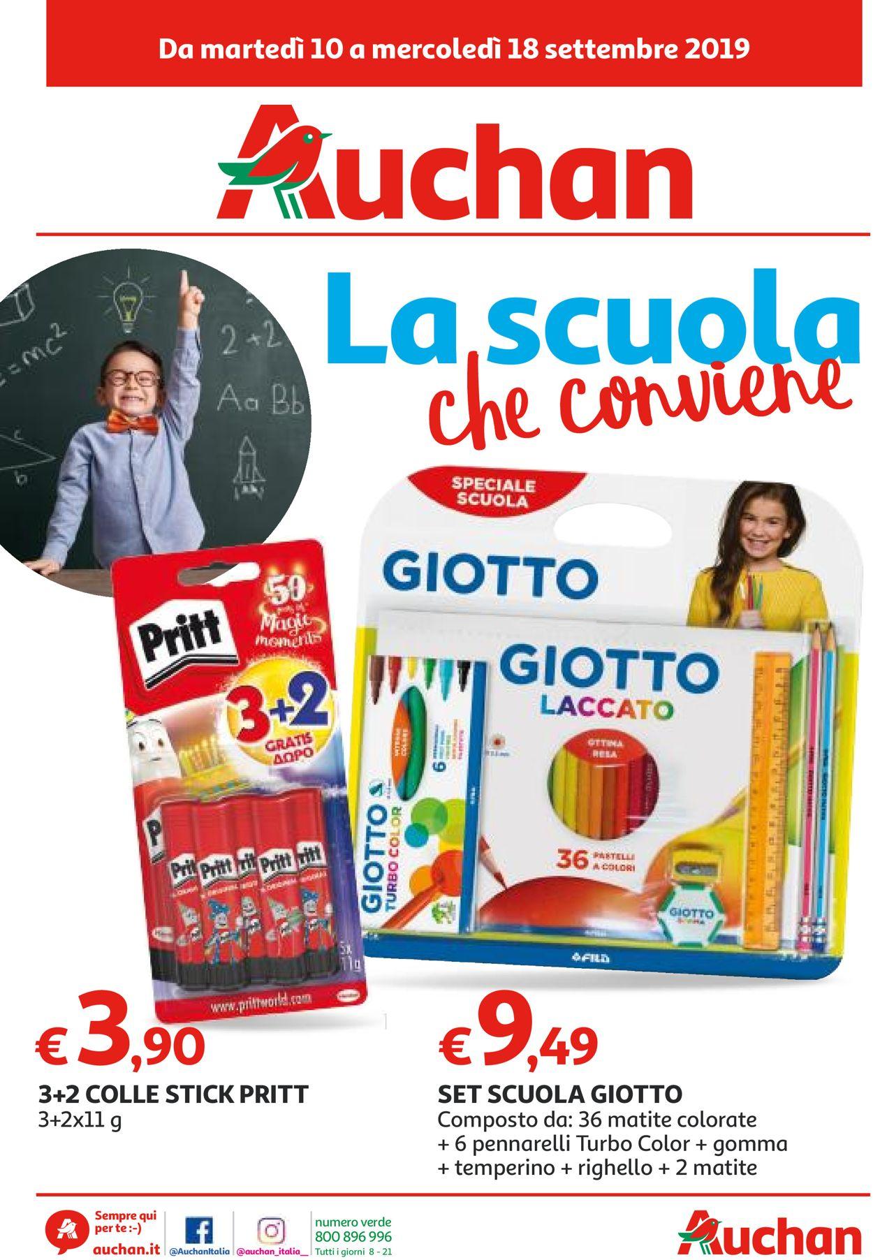 Volantino Auchan - Offerte 10/09-18/09/2019