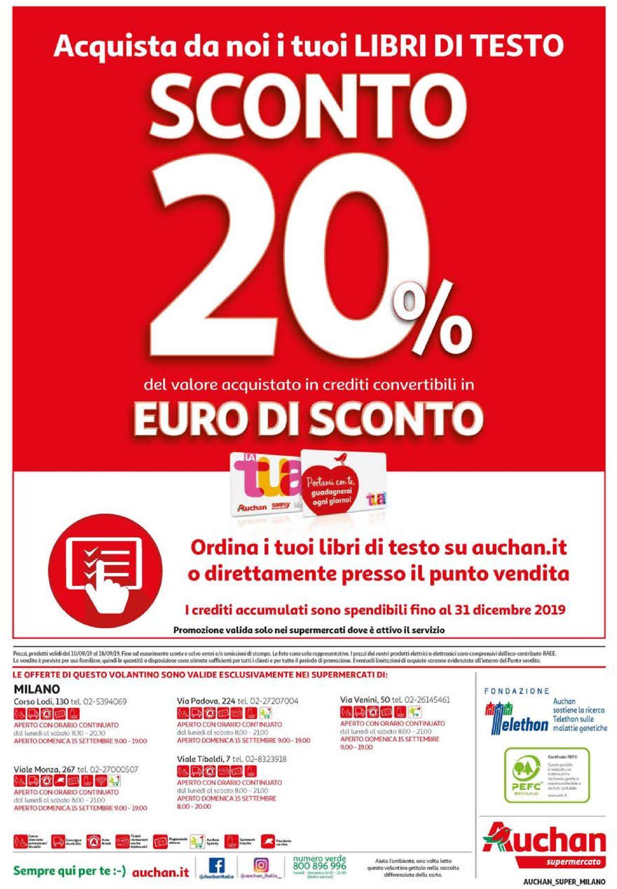Volantino Auchan - Offerte 10/09-18/09/2019 (Pagina 20)