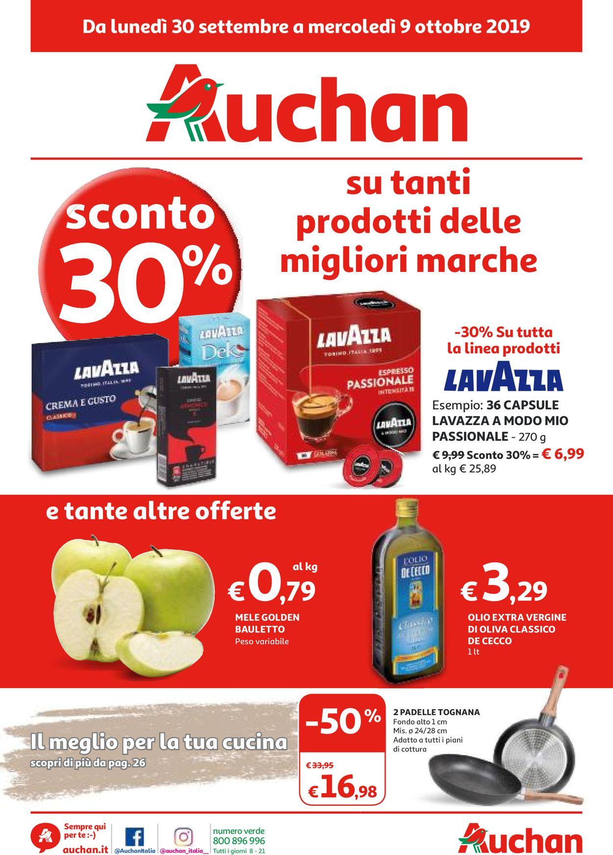 Volantino Auchan - Offerte 30/09-09/10/2019