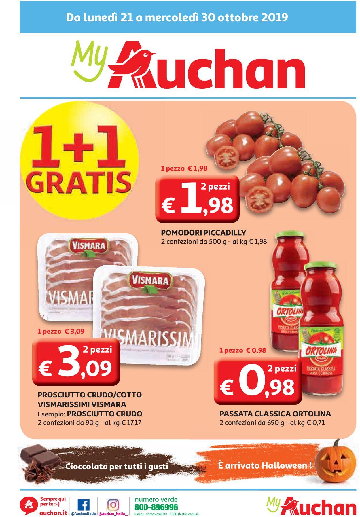 Volantino Auchan - Offerte 21/10-30/10/2019