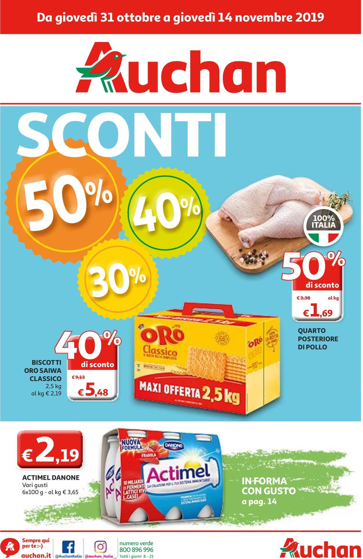 Volantino Auchan - Offerte 31/10-14/11/2019