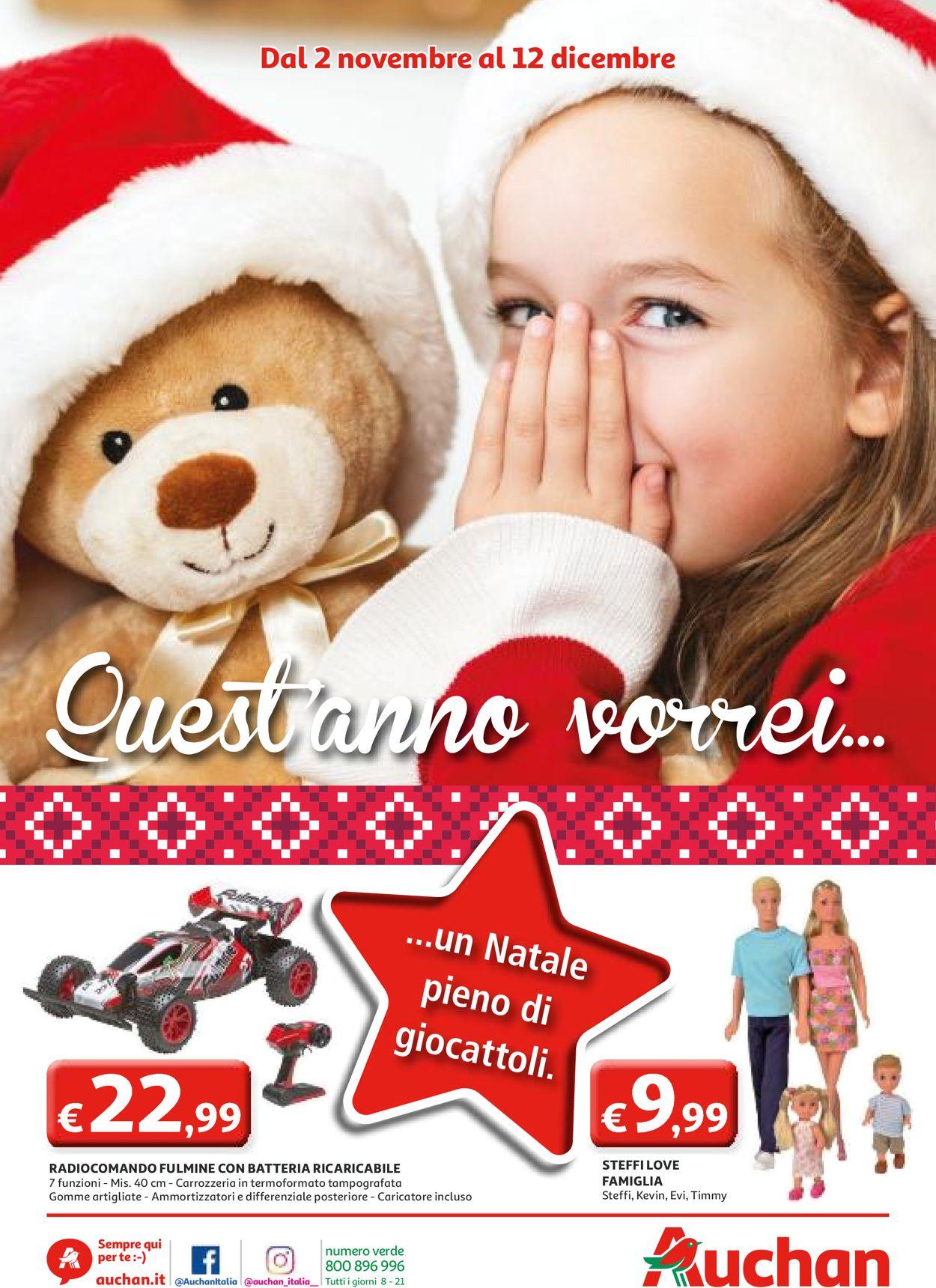 Volantino Auchan - Offerte 02/11-12/12/2019