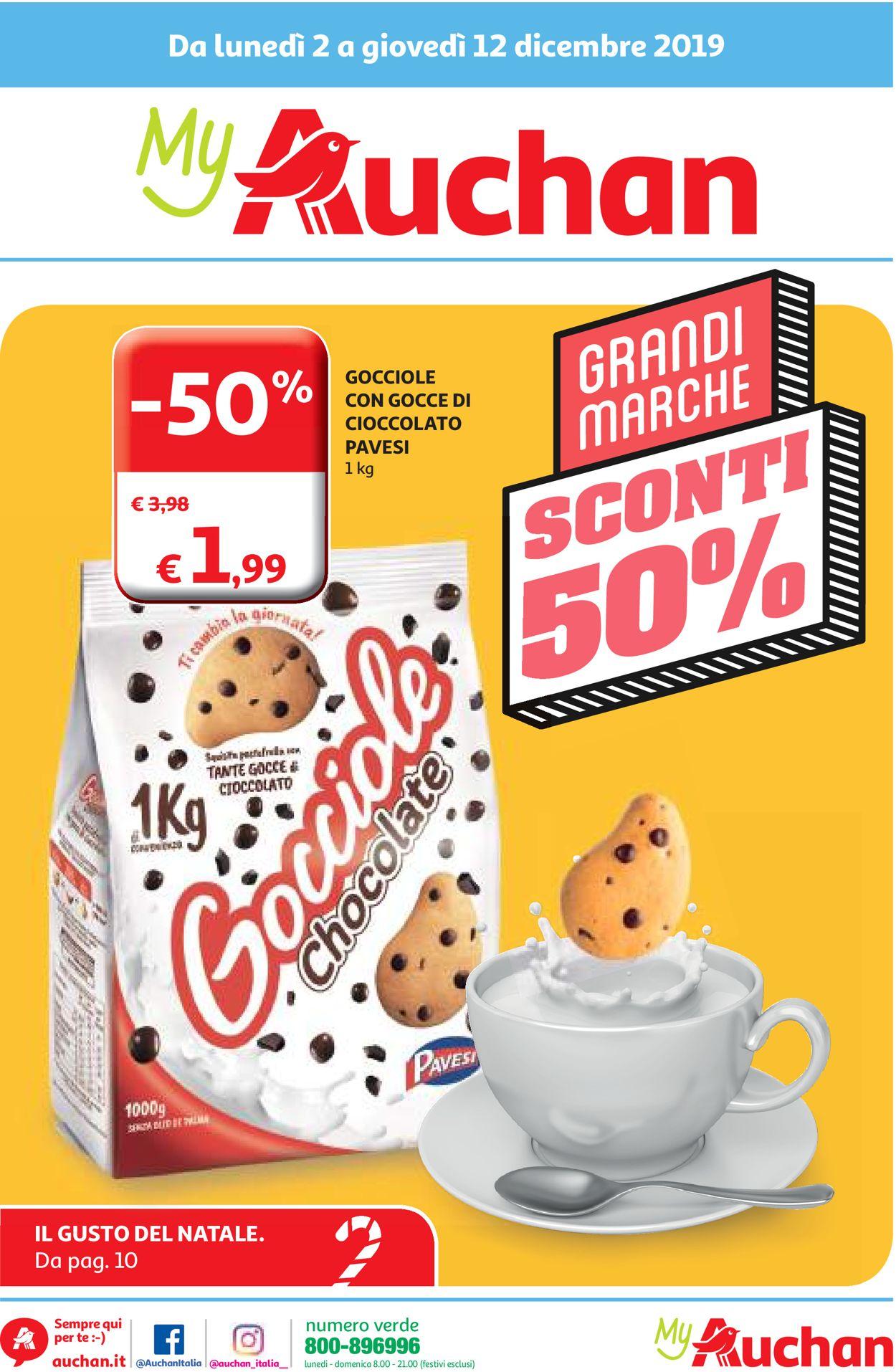 Volantino Auchan - Offerte 02/12-12/12/2019