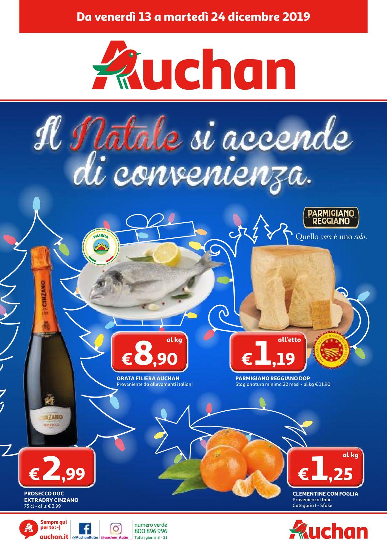 Volantino Il volantino natalizio di Auchan - Offerte 13/12-24/12/2019