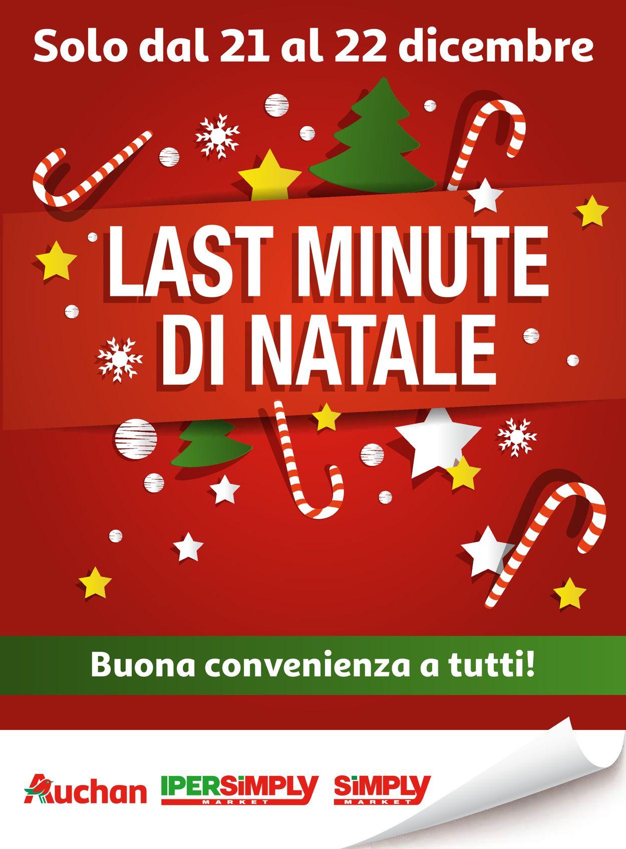 Volantino Il volantino natalizio di Auchan - Offerte 21/12-22/12/2019